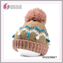 Winter Mixed Colors Wool Cap Women Thermal and Fleece Hat