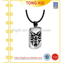 Mask printing dog tag necklace distributor imitation jewelry