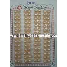 Mitad perforado perla grado AAA 6mm, rosa