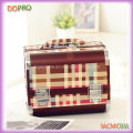 Warm Check Prnting Medium Size Combination Lock Cosmetic Case (SACMC031)