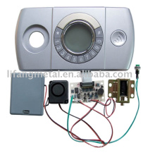 Plastic electronic panel for safes and doors