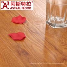 Surface de texture en bois réelle imperméable à 8 mm (U-Groove) Plancher stratifié (AS0002-4)