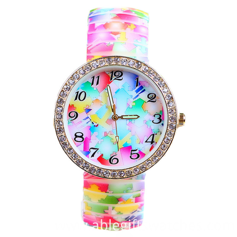 diamond floewr watch