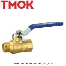 brass color inside and outside the wire long handle ball valve