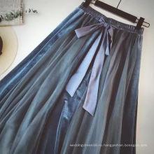 Длинная юбка для женщин Свободное женское платье