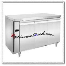 R307 3 puertas lujoso Fancooling refrigerador / congelador debajo del mostrador