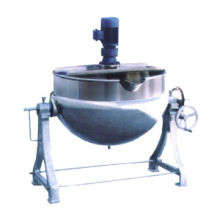 Tilting electrical heating jacketed kettle with scraper stirrer