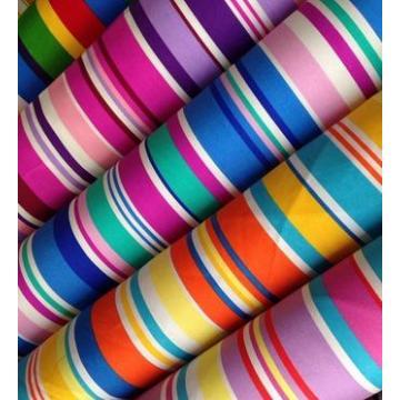 Tela de lona impresa algodón 100% más nuevo de la raya del diseño