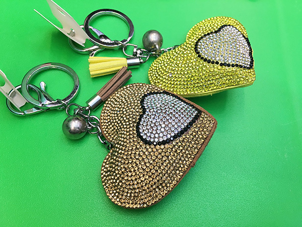 Love Leather Fringed Keychain
