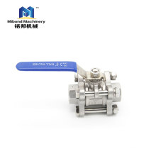 "2"" stainless steel 304/ 316l iso pad 3 piece full bore ball valve various sizes"