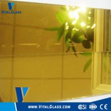 Verre réflecteur doré / coloré doré pour verre de construction
