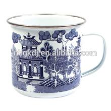 Blaue Willow Emaille Tasse Blaue Willow Emaille Tasse
