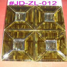 Mosaïque en verre miroir en cristal d'or