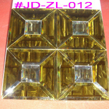Azulejo de mosaico de espelho de cristal de ouro