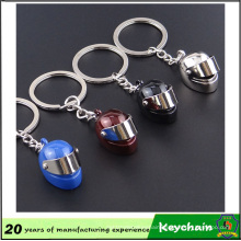 3D Metal Motorcycle Helmet Keychain for Promotion