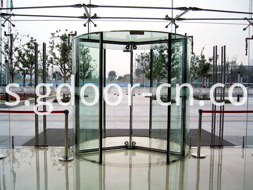 All Glass Revolving Doors for Business Buildings