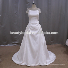 Robe de mariée mikado simple mais élégante