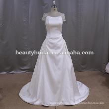 Простой, но элегантный бисероплетение микадо свадебное платье