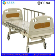 ISO/Ce Approved One Shake Manual Aluminum Alloy Guardrail Hospital Beds