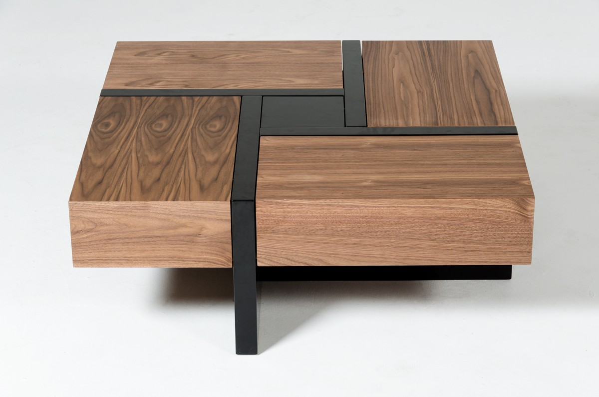 walnut veneer coffee table
