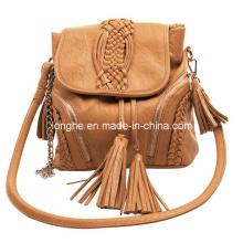Tassels and Braid Decoration PU Handbag (ZXIY002)
