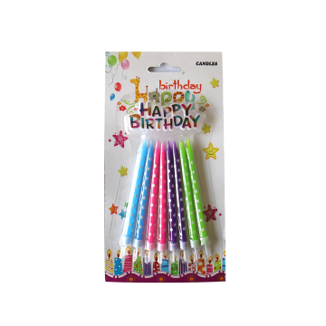 Спиральные свечи рождения с держателями