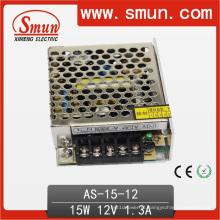 Fonte de alimentação do interruptor da saída do único tamanho pequeno de 15W 12VDC 1.3A