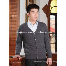 luxury men's cashmere knitting OEM cardigan