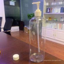 Bouteille de désinfectant pour les mains en matériau PET de 1000 ml