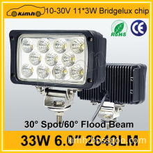 Car accessory 2640LM 33w led working light for marine