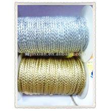 Cordón trenzado decorativo metálico