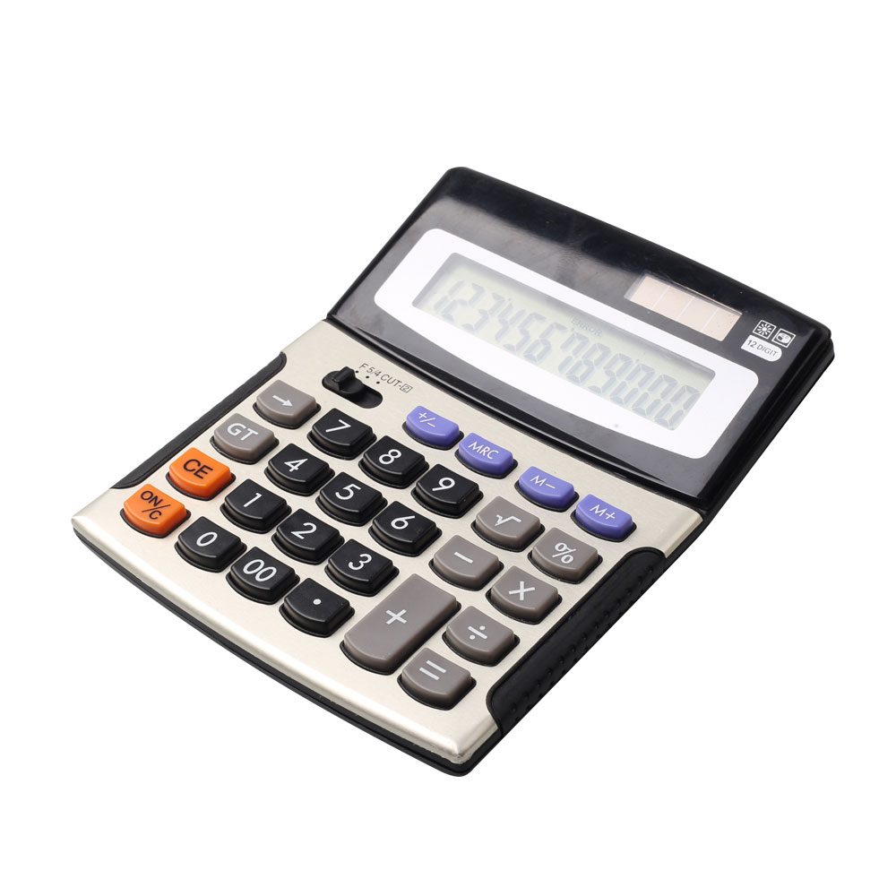 12 Digits Business Desk Calculator with Dual Power