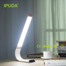 modern led rechargeable lamp restaurant with flexible neck touch panel