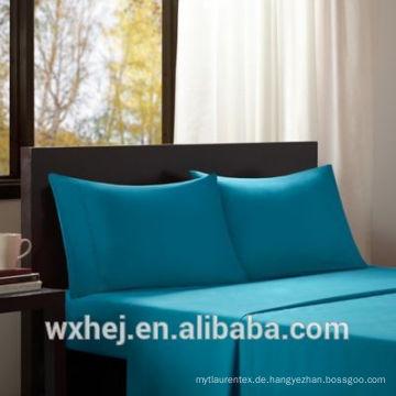 Großhandelsqualität weichen weißen Wohnheim Blatt Ebene 100% Baumwolle Bettlaken