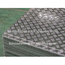 Kinds of A3105 / 5 bars Embossed Aluminum Sheet For Different Uses