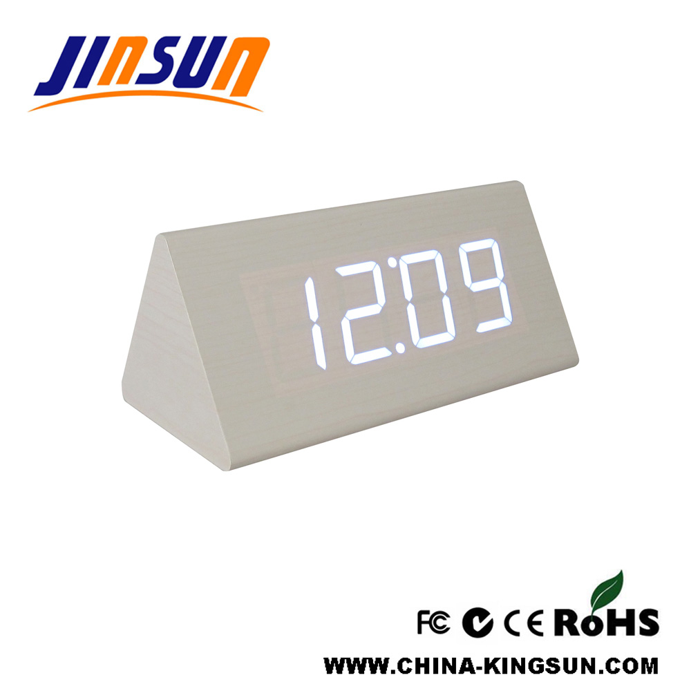 Triangle Led Clock Big Size