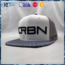 Broderie design cuir bord deux couleurs snapback cap
