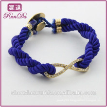 Alibaba new arrival fashion diamond 8 rope bracelet
