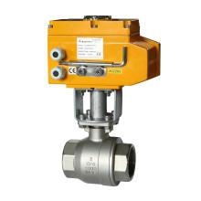 Válvula de bola eléctrica - 2 vías - Válvula de bola de rosca de alta temperatura