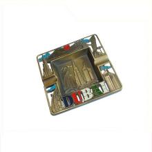 Custom die ganze Welt regionalen Feature Metall benutzerdefinierte Aschenbecher