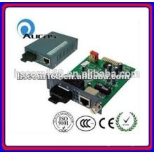 2015 новый конвертер медиа-сигнала 10 / 100бит / с, оптический кабель RJ45 Media Converter