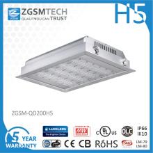 40Вт до 200Вт IP66 светодиодные потолочные Встраиваемые света Сени для бензоколонки
