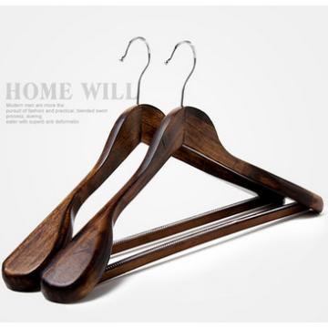Perchas de madera juego extra ancho de hombro