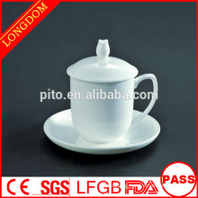 Factory directly high quality porcelain Chinese traditional tea mug with holder