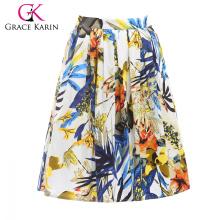 19 Couleurs! Grace Karin Cheap Occident court rétro vintage imprimé floral coton 50s jupe CL6294-14 #