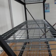 Solution de stockage à faible coût de rack industriel / rack de moule avec panneau de fil