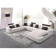 Modern style sofa adjustable backrest living room U shape sofa