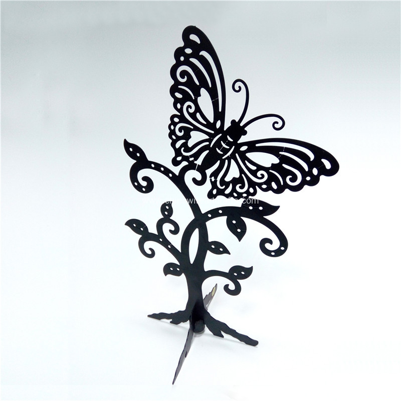 Metal Butterfly Jewelry Rack Home Decor