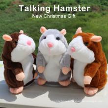 Peluche Mimicry Pet Toy Poupée électronique Peluche parlant et répète parlant X hamster animaux en peluche jouet personnalisé en peluche