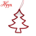 HYYX Customized Color Christmas door tree shape hanging decoration